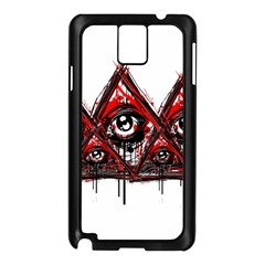 Red White Pyramids Samsung Galaxy Note 3 N9005 Case (black) by teeship