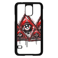 Red White Pyramids Samsung Galaxy S5 Case (black) by teeship