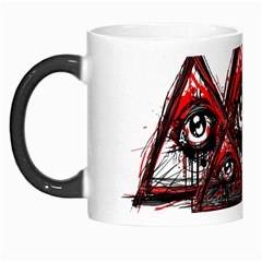 Red White Pyramids Morph Mug by teeship