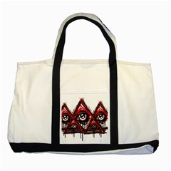 Red White Pyramids Two Toned Tote Bag