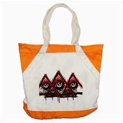 Red White Pyramids Accent Tote Bag