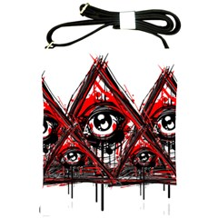 Red White Pyramids Shoulder Sling Bag by teeship