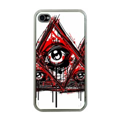 Red White Pyramids Apple Iphone 4 Case (clear)