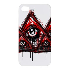 Red White Pyramids Apple Iphone 4/4s Hardshell Case