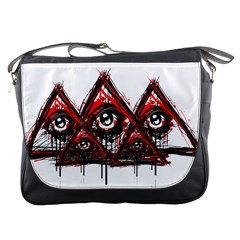 Red White Pyramids Messenger Bag by teeship