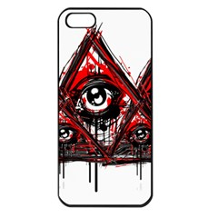 Red White Pyramids Apple Iphone 5 Seamless Case (black) by teeship