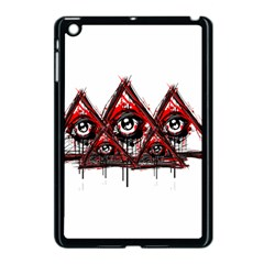Red White Pyramids Apple Ipad Mini Case (black) by teeship