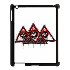 Red White Pyramids Apple Ipad 3/4 Case (black) by teeship