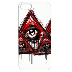 Red White Pyramids Apple Iphone 5 Hardshell Case With Stand by teeship
