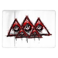 Red White Pyramids Samsung Galaxy Tab 10 1  P7500 Flip Case by teeship