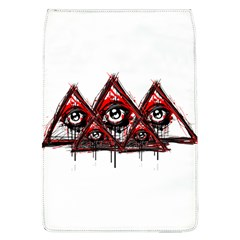 Red White Pyramids Removable Flap Cover (l) by teeship