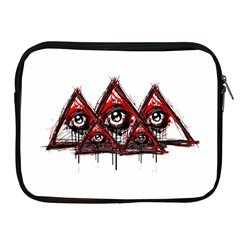 Red White Pyramids Apple Ipad Zippered Sleeve by teeship