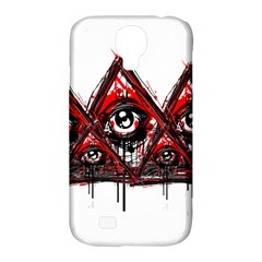Red White Pyramids Samsung Galaxy S4 Classic Hardshell Case (pc+silicone) by teeship