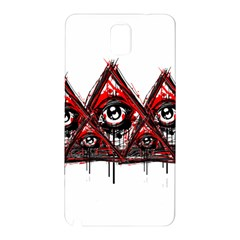 Red White Pyramids Samsung Galaxy Note 3 N9005 Hardshell Back Case by teeship
