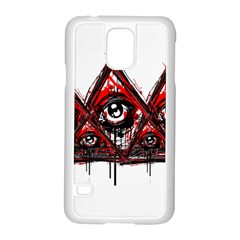 Red White Pyramids Samsung Galaxy S5 Case (white) by teeship