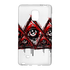 Red White Pyramids Samsung Galaxy Note Edge Hardshell Case by teeship