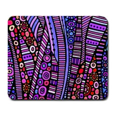 Stained Glass Tribal Pattern Large Mouse Pad (rectangle) by KirstenStar
