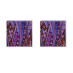 Stained Glass Tribal Pattern Cufflinks (square) by KirstenStar