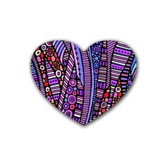 Stained Glass Tribal Pattern Drink Coasters 4 Pack (heart)  by KirstenStar