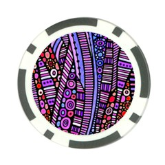 Stained Glass Tribal Pattern Poker Chip by KirstenStar