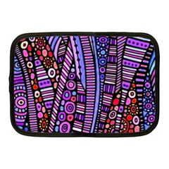 Stained Glass Tribal Pattern Netbook Sleeve (medium) by KirstenStar