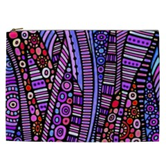 Stained Glass Tribal Pattern Cosmetic Bag (xxl) by KirstenStar