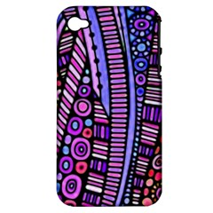 Stained Glass Tribal Pattern Apple Iphone 4/4s Hardshell Case (pc+silicone) by KirstenStar