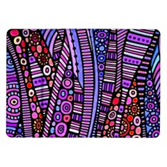 Stained Glass Tribal Pattern Samsung Galaxy Tab 10 1  P7500 Flip Case by KirstenStar