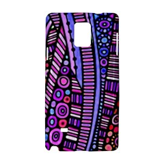 Stained Glass Tribal Pattern Samsung Galaxy Note 4 Hardshell Case by KirstenStar