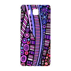 Stained Glass Tribal Pattern Samsung Galaxy Alpha Hardshell Back Case by KirstenStar