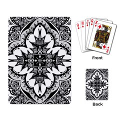 Doodle Cross  Playing Cards Single Design by KirstenStar