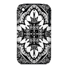 Doodle Cross  Apple Iphone 3g/3gs Hardshell Case (pc+silicone) by KirstenStar