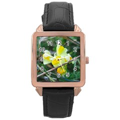Linaria Rose Gold Leather Watch  by ansteybeta