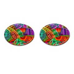 Happy Tribe Cufflinks (oval) by KirstenStar