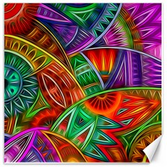 Happy Tribe Canvas 20  X 20  (unframed) by KirstenStar