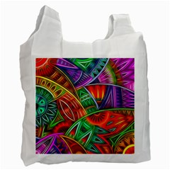 Happy Tribe White Reusable Bag (two Sides) by KirstenStar