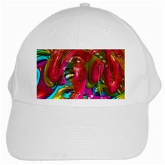 Music Festival White Baseball Cap by icarusismartdesigns