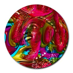 Music Festival 8  Mouse Pad (round) by icarusismartdesigns