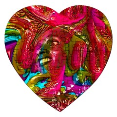 Music Festival Jigsaw Puzzle (heart) by icarusismartdesigns