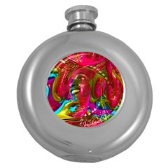 Music Festival Hip Flask (round) by icarusismartdesigns