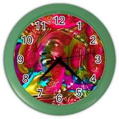 Music Festival Wall Clock (color) by icarusismartdesigns