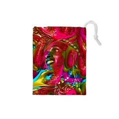 Music Festival Drawstring Pouch (small) by icarusismartdesigns