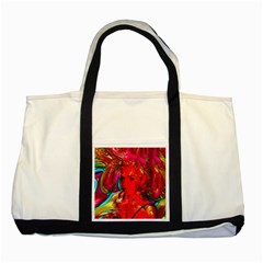 Mardi Gras Two Toned Tote Bag by icarusismartdesigns