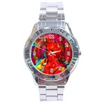 Mardi Gras Stainless Steel Watch Front
