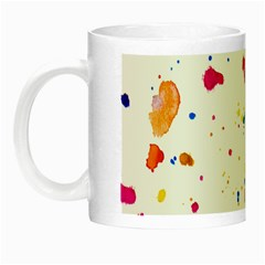 Multicolor Splatter Abstract Print Glow In The Dark Mug by dflcprints