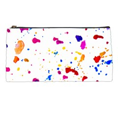 Multicolor Splatter Abstract Print Pencil Case by dflcprints