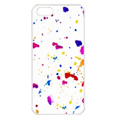 Multicolor Splatter Abstract Print Apple Iphone 5 Seamless Case (white) by dflcprints