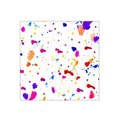 Multicolor Splatter Abstract Print Satin Bandana Scarf by dflcprintsclothing