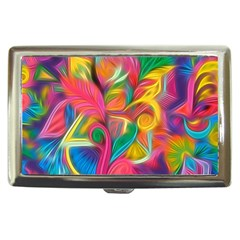 Colorful Floral Abstract Painting Cigarette Money Case by KirstenStar
