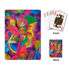 Colorful Floral Abstract Painting Playing Cards Single Design by KirstenStar